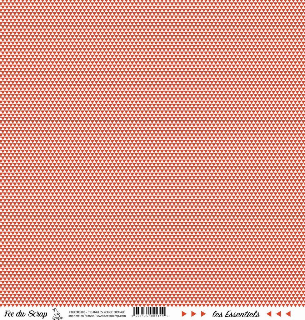 feuille les essentiels rouge orangé triangles