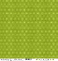 feuille les essentiels vert foncé pois