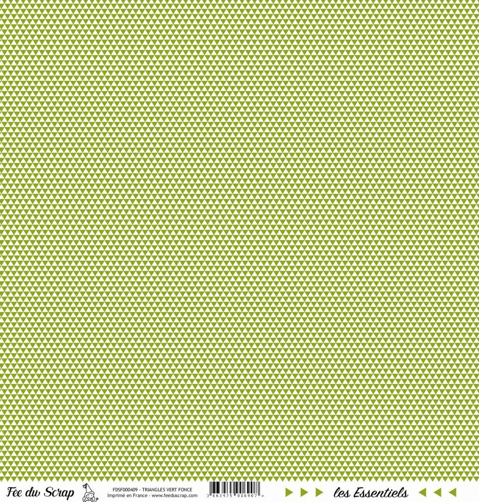 feuille les essentiels vert foncé triangles