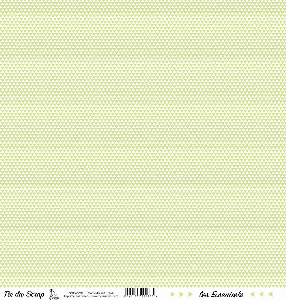 feuille les essentiels vert pale triangles