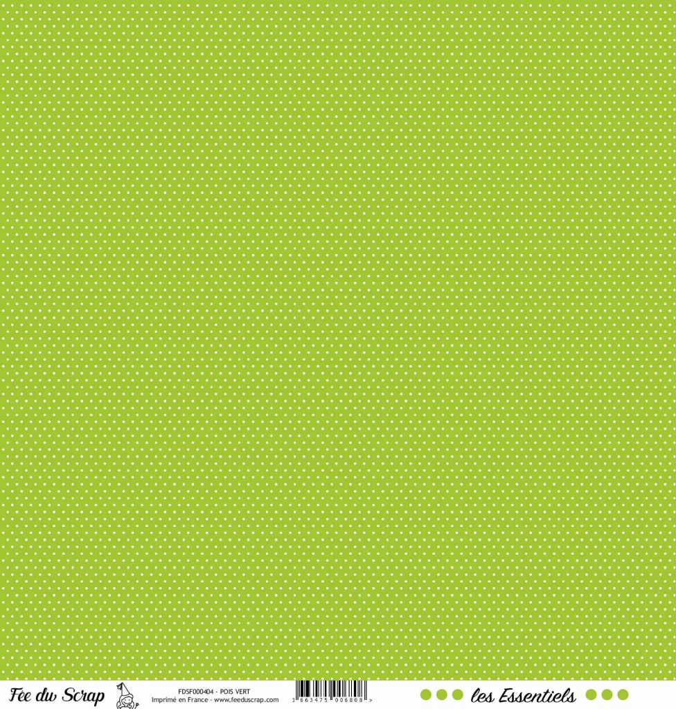 feuille les essentiels vert pois