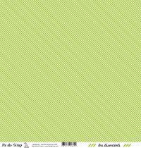 feuille les essentiels vert rayures