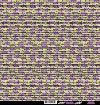 feuille Les mots bonheur vert/violet