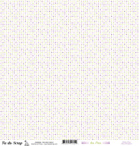 feuille Les pois vert/violet