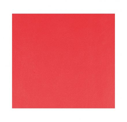 FEUILLE SIMILI CUIR ROUGE