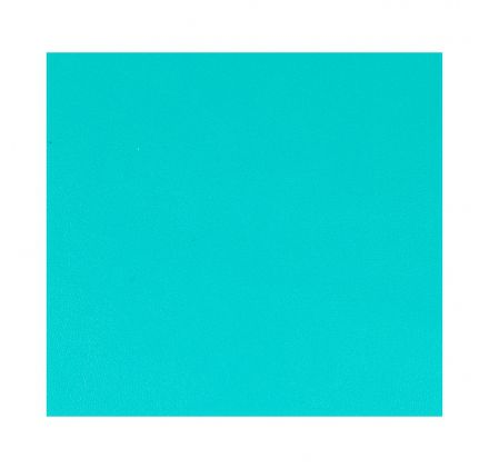 FEUILLE SIMILI CUIR TURQUOISE