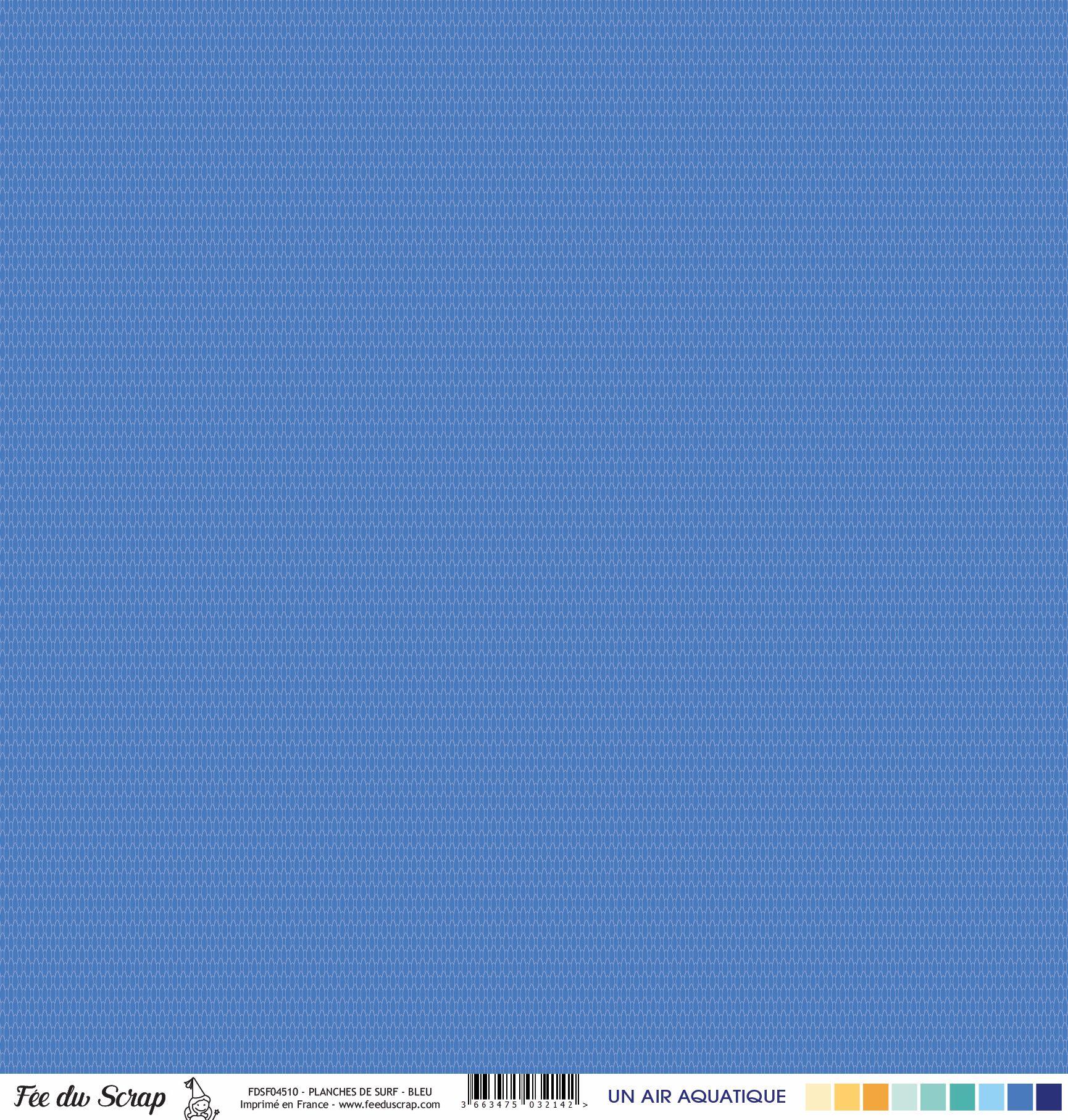 Feuille un air aquatique - Planches de surf bleu