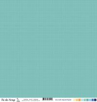 Feuille un air aquatique - Vagues turquoise