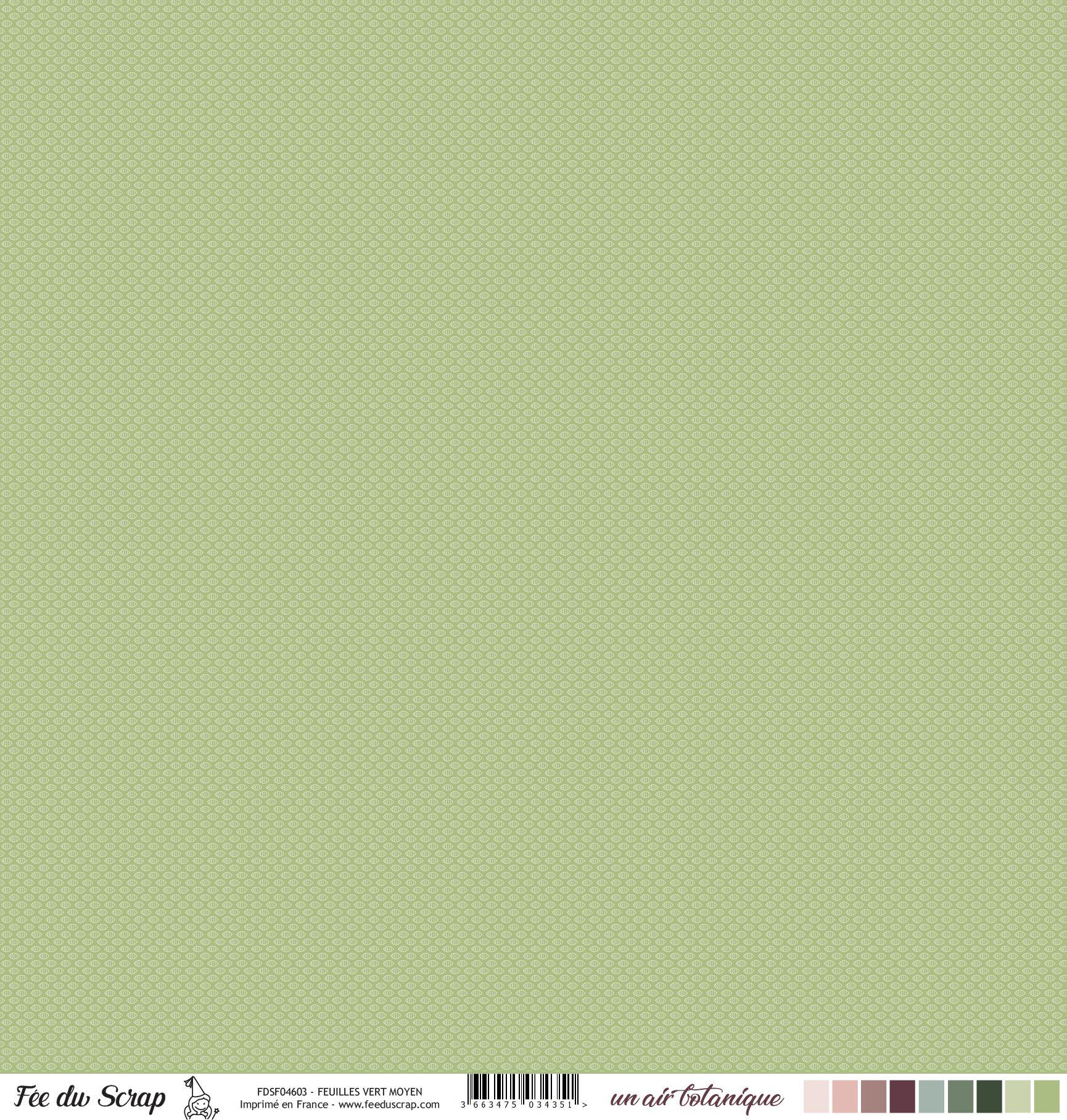 Feuille un air botanique - Feuilles Vert Moyen