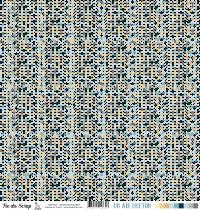 Feuille un air breton - ancres multicolores