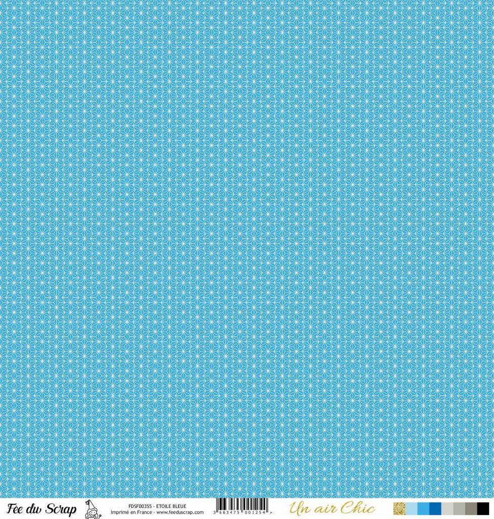 feuille Un air Chic bleu etoile turquoise