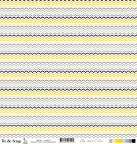 feuille Un air Chic jaune chevrons