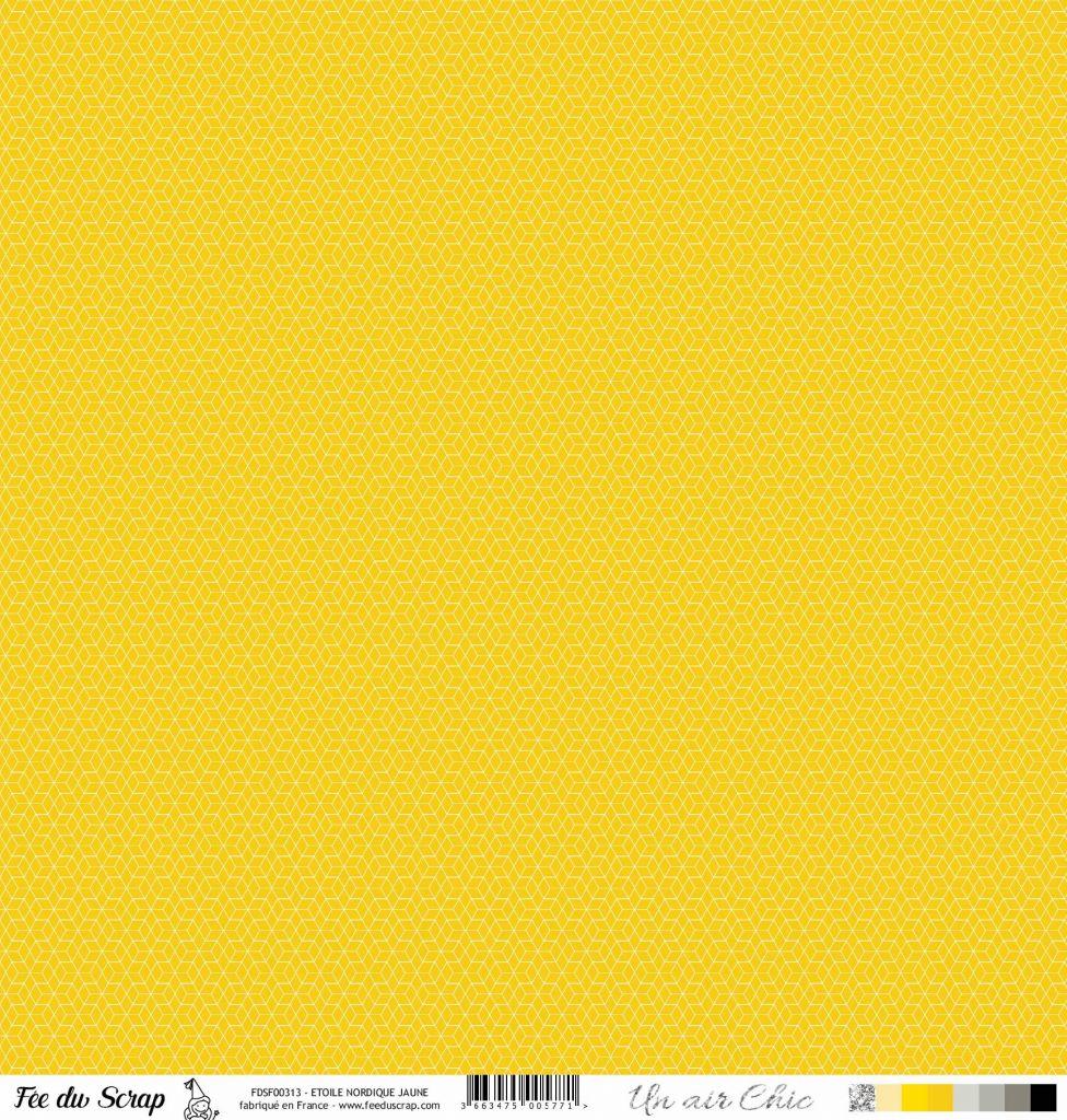 feuille Un air Chic jaune étoile nordique jaune
