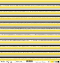 feuille Un air Chic jaune rayures
