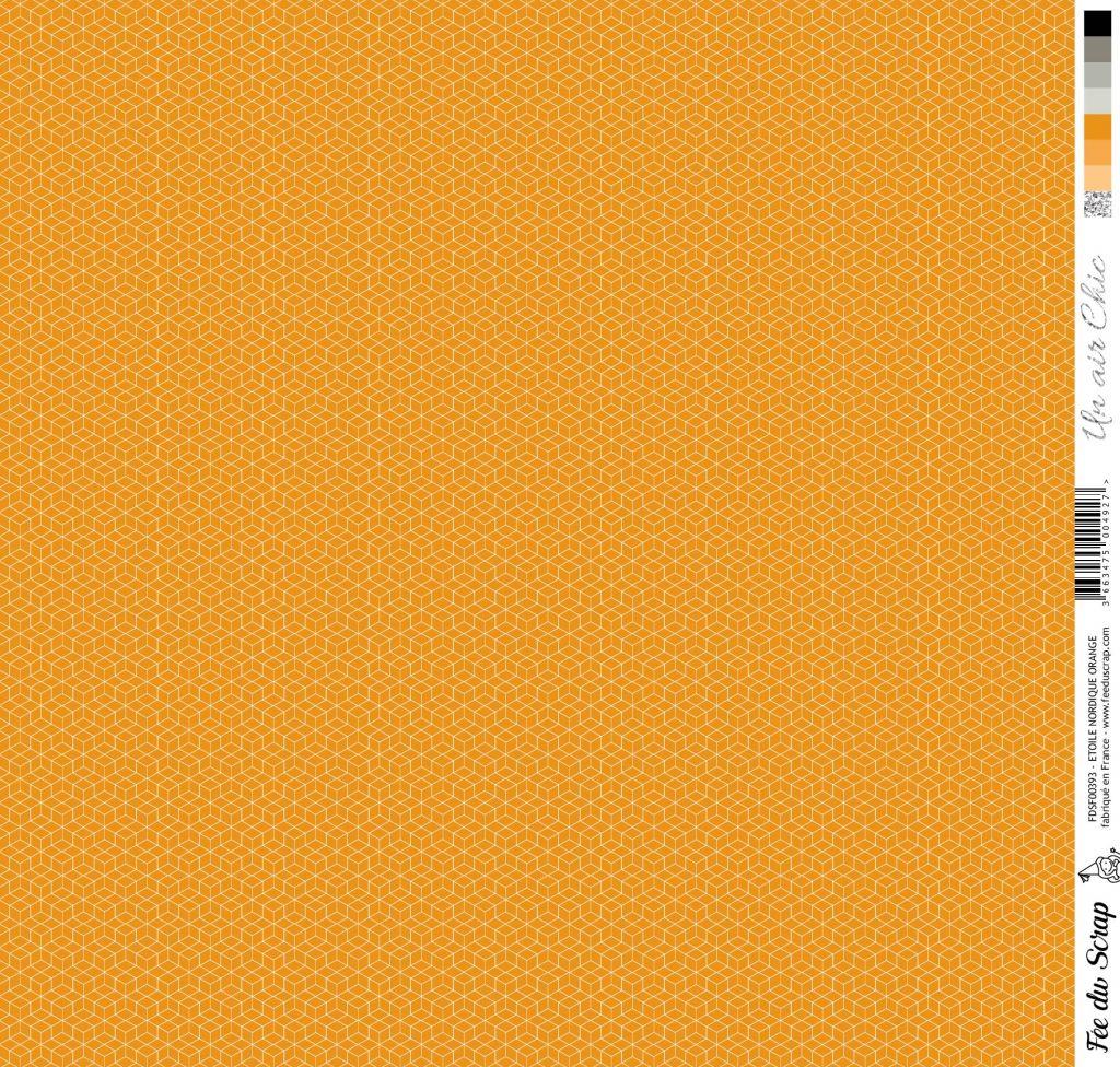 feuille Un air Chic orange étoile nordique orange