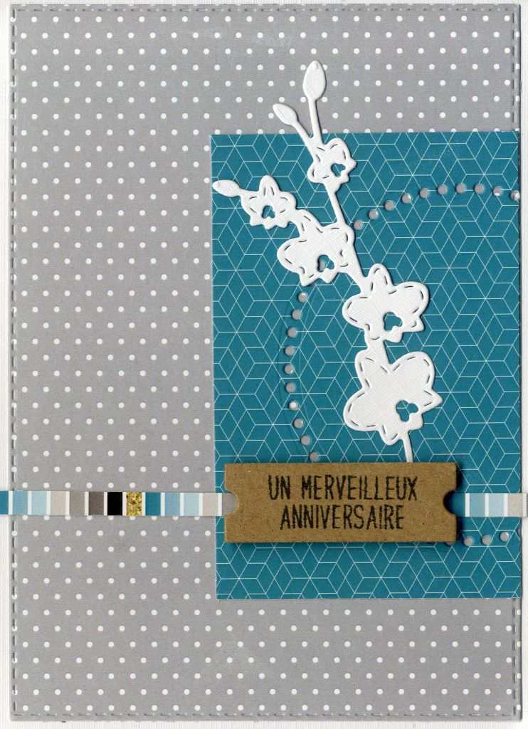 feuille Un air Chic turquoise rayures