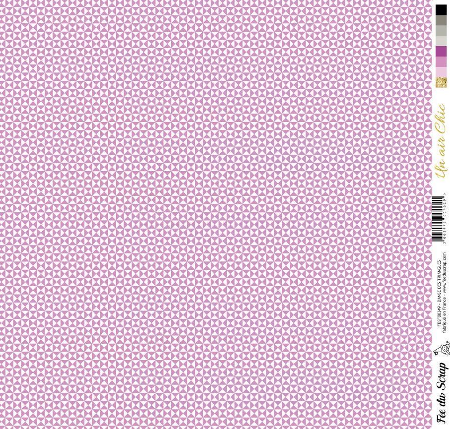 feuille Un air Chic violet danse des triangles