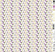 feuille Un air Chic violet triangles
