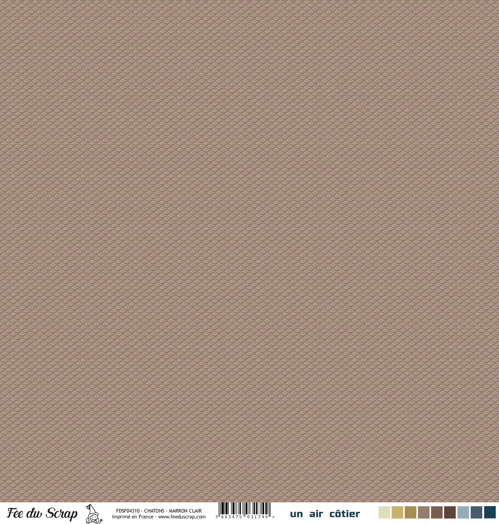 Feuille un air côtier - Chatons marron clair