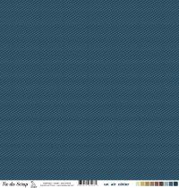 Feuille un air côtier - Vagues bleu foncé