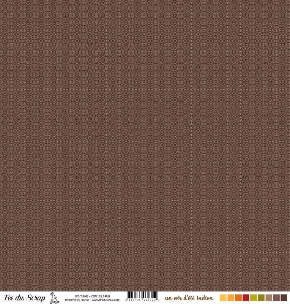 Feuille un air d\'été indien - Cercles brun