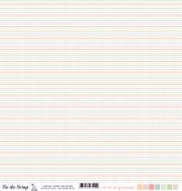 Feuille un air de grossesse - Rayures multicolores