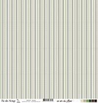 Feuille un air de noël - Rayures - Multicolore