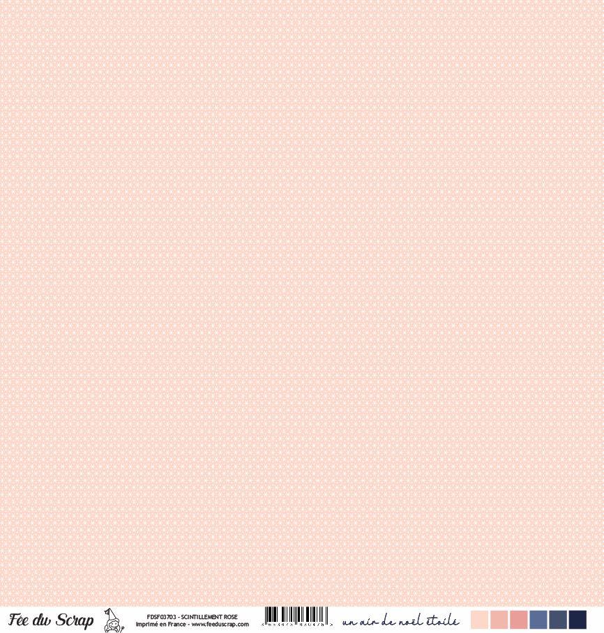 Feuille un air de noël étoilé - Scintillement rose