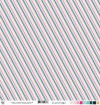 Feuille un air féérique - rayures diagonales - multicolore