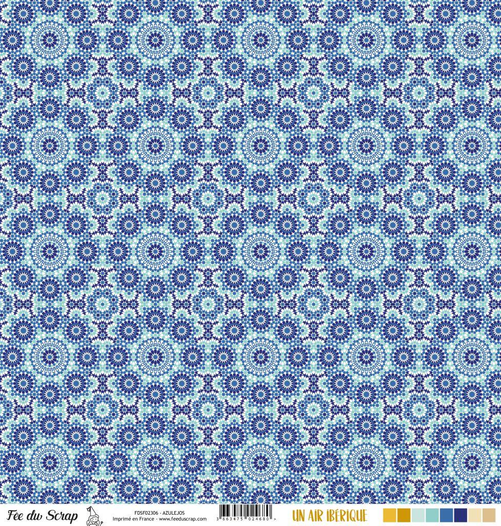 Feuille un air ibérique - azulejos