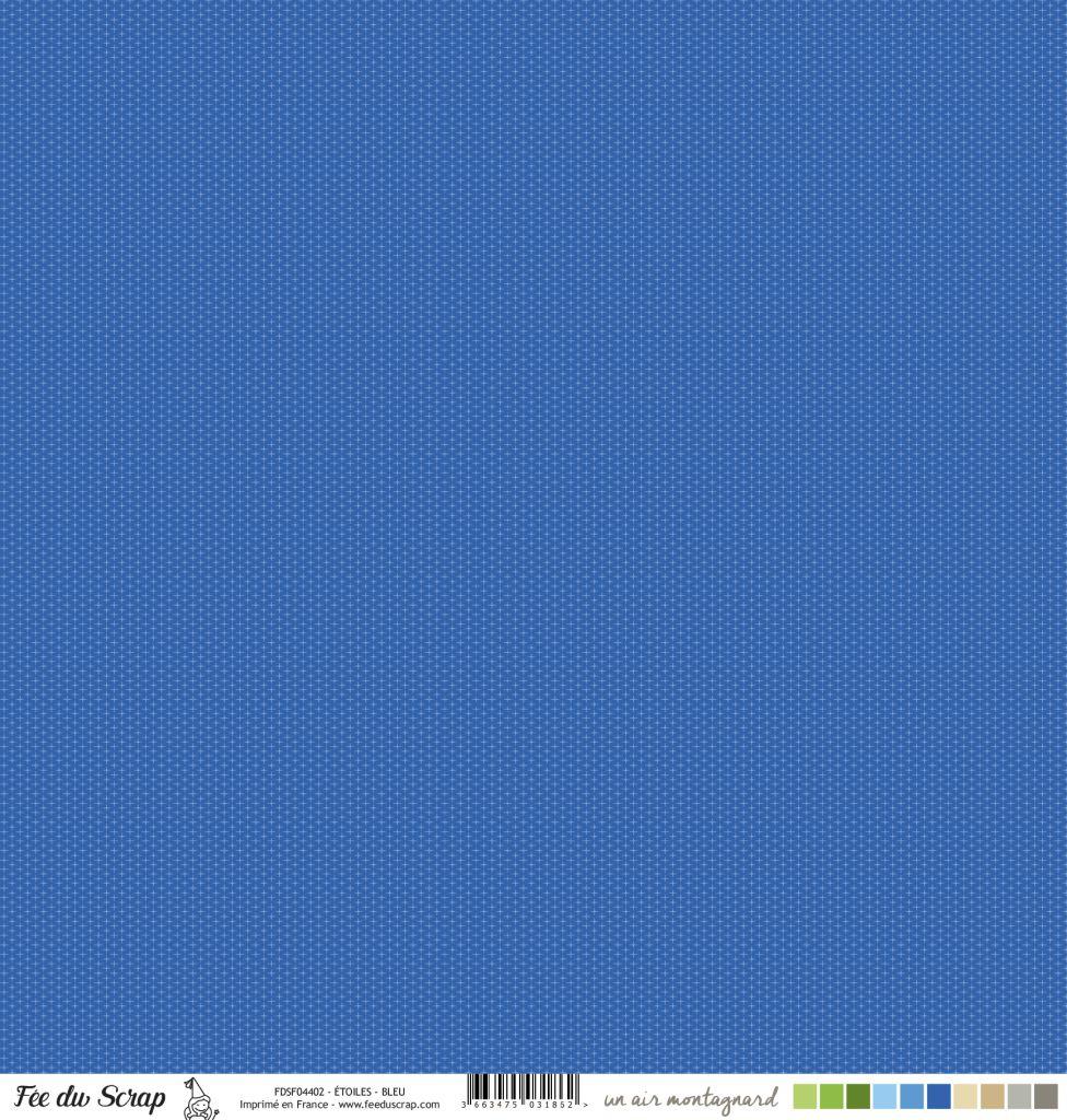 Feuille un air montagnard - Etoiles bleu