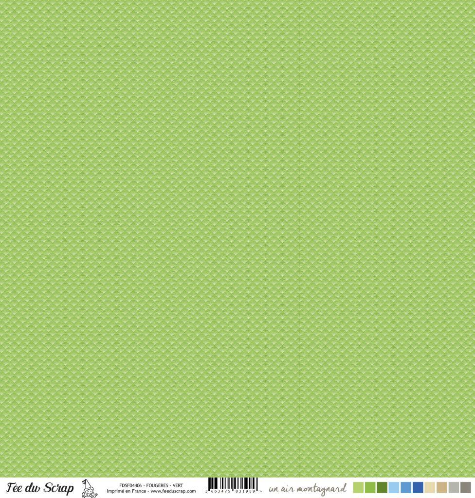 Feuille un air montagnard - Fougères vert