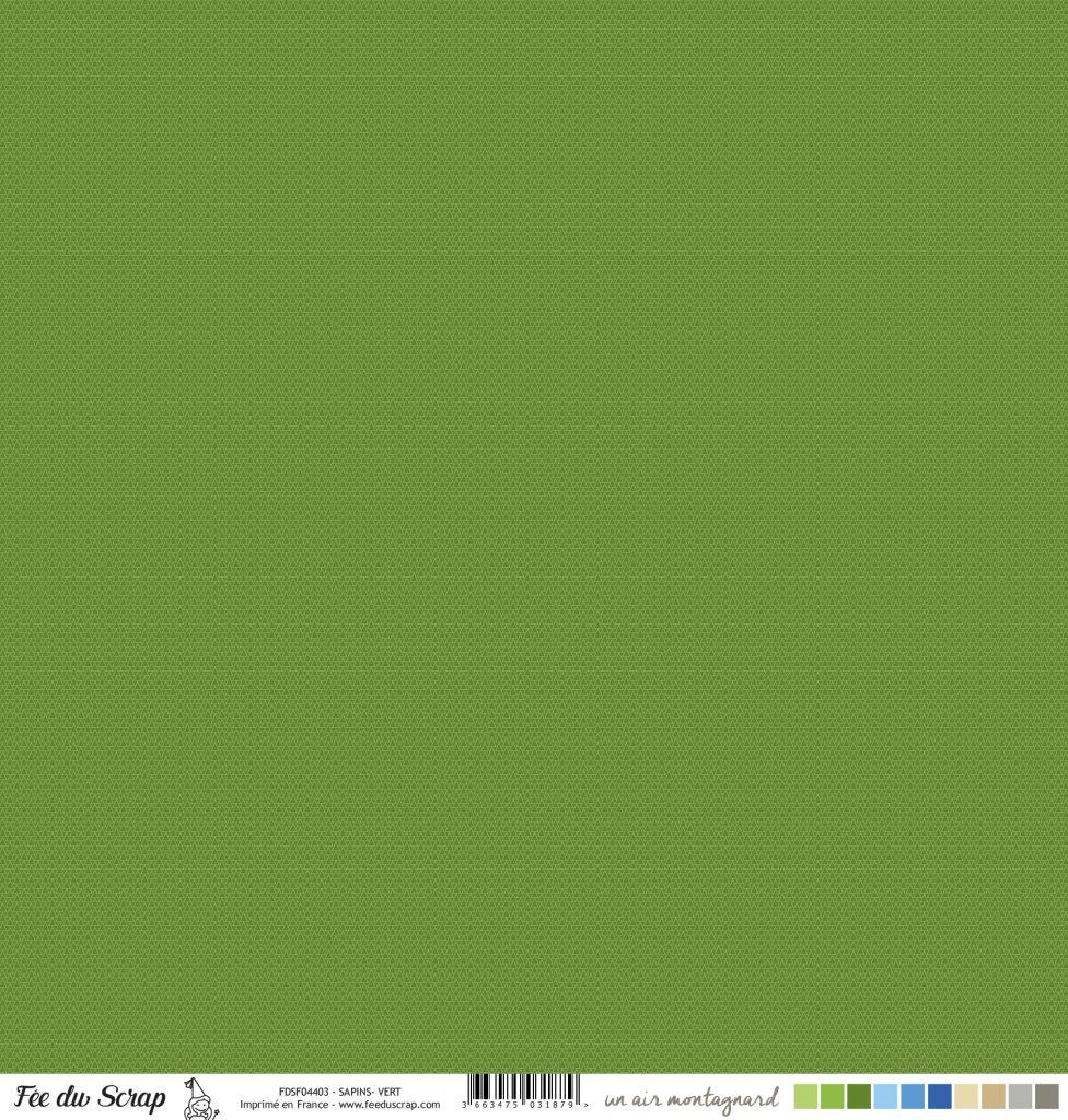 Feuille un air montagnard - Sapins vert