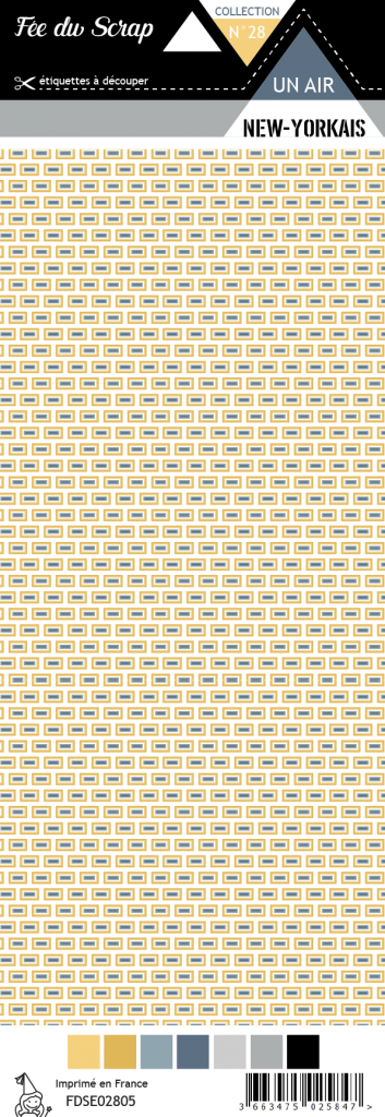 Feuille un air New-Yorkais - motifs rectangles