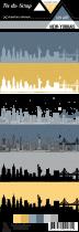 Feuille un air New-Yorkais - skyline New-York