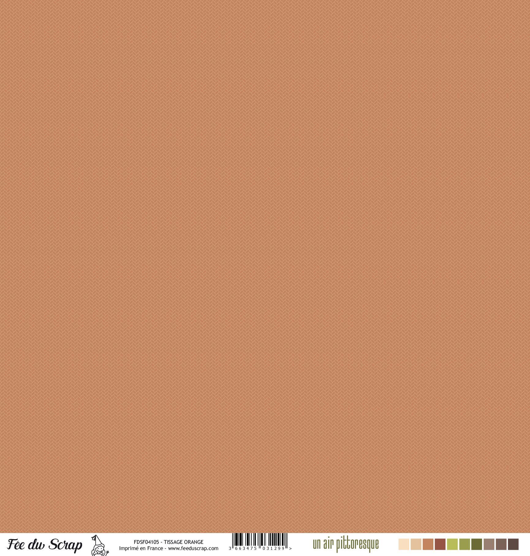 Feuille un air pittoresque - Tissage orange
