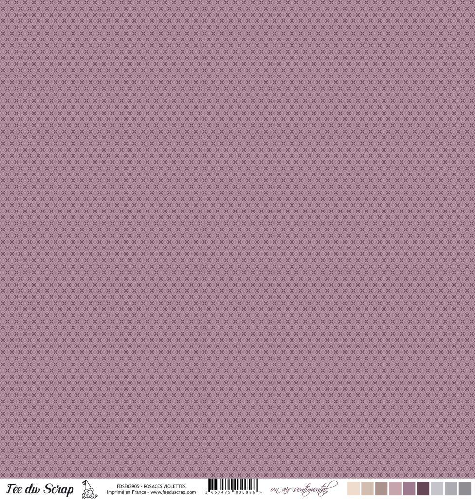 Feuille un air sentimental - Rosaces violettes