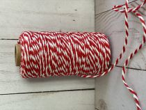 FICELLE BICOLORE TWINE ROUGE