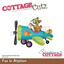 """Fox In Airplane 3.2\""""X2.4\"""""""