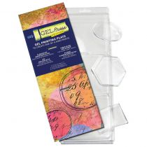 Gel Press Gel Petites 3/Pkg Oval, Hexagon, Rectangle