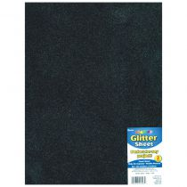 "Glitter Foam Sheet 9""X12\"" 2mm noir"