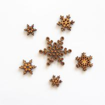 GRAND LOT EMBELLISSEMENTS BOIS - FLOCONS