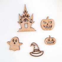 GRAND LOT EMBELLISSEMENTS BOIS - HALLOWEEN