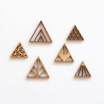 GRAND LOT EMBELLISSEMENTS BOIS - TRIANGLES
