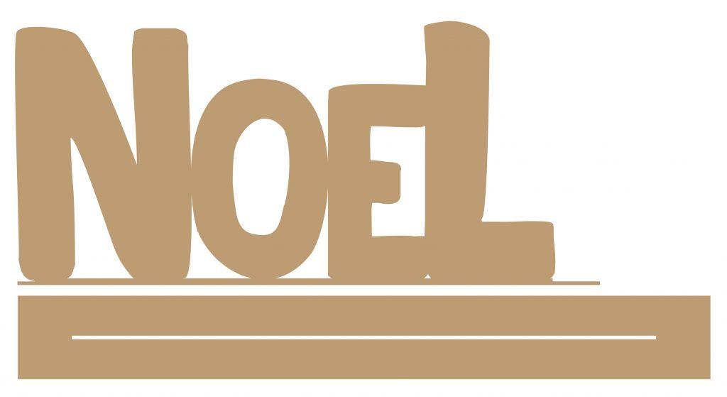 GRAND MOT AVEC BANDE NOEL + RAIL MDF 3 MM