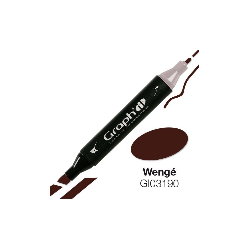 GRAPH\'IT Marqueur alcool 3190 - Wengé