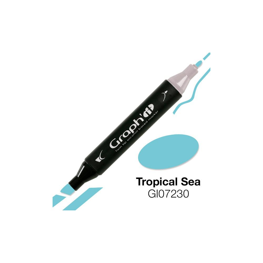 GRAPH\'IT Marqueur alcool 7230 Tropical Sea