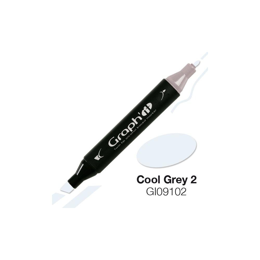 GRAPH\'IT Marqueur alcool 9102 - Cool Grey 2