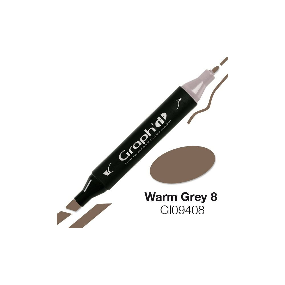 GRAPH\'IT Marqueur alcool 9408 - Warm Grey 8