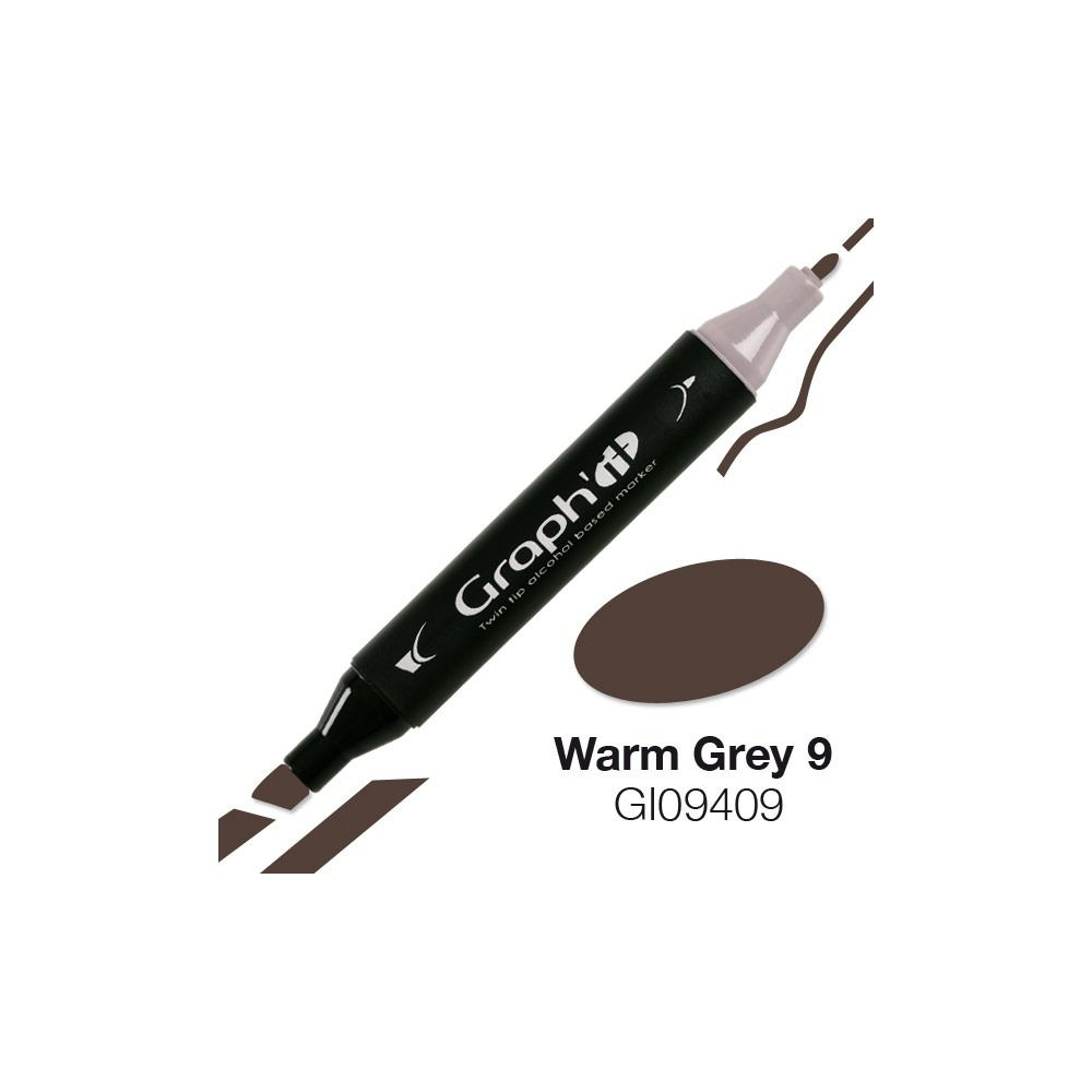 GRAPH\'IT Marqueur alcool 9409 - Warm Grey 9